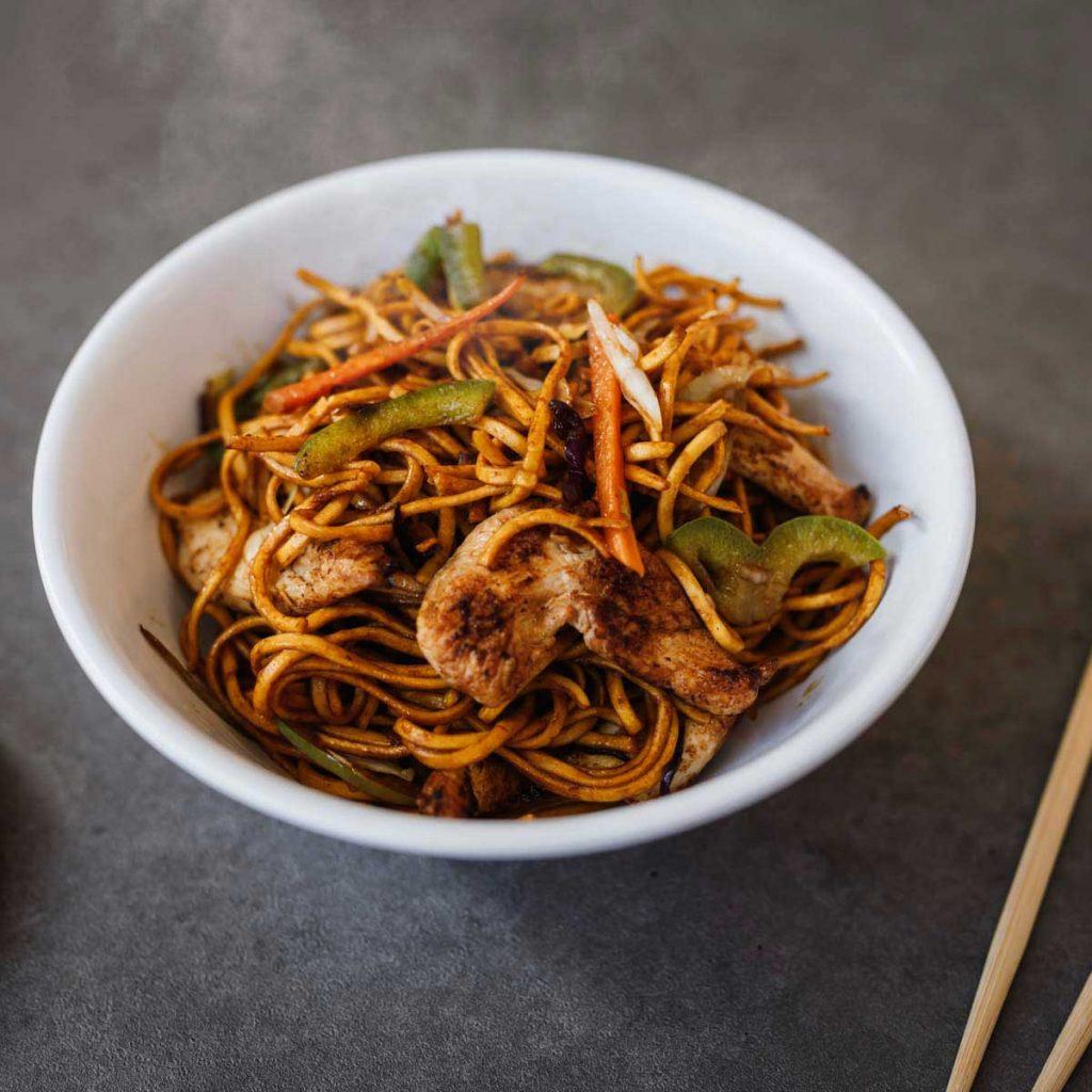 fresh noodle dish